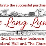 Invitation to the Long Lunch community celebration in Federal Village